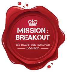 Logo: escape rooms Mission Breakout London
