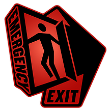 Logo: escape rooms Emergency Exit Manchester
